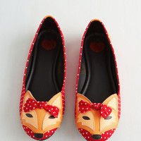 T.U.K. Kawaii Clever So Sweet Flat in Red