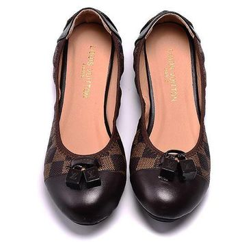 LV Louis Vuitton Women Fashion Dance Shoes Flats Shoes