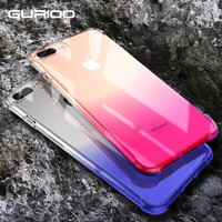 Gurioo Anti-knock Case for iPhone 6 6s Plus Silicone for iPhone 7 7 Plus Case Gradient Transparent Cover For iPhone 8 Plus Cases