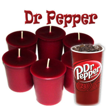 6 Dr Pepper Votive Candles Fruity Cola by WoodcraftsandCandles