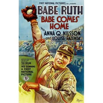 Babe Comes Home Babe Ruth Movie Poster