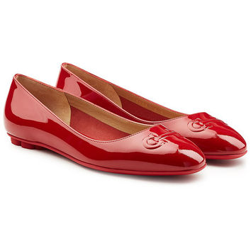 Broni Patent Leather Ballerinas - Salvatore Ferragamo | WOMEN | US STYLEBOP.COM