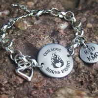 Personalized Firefighter Girlfriend Wife Bracelet - Firefighter Bracelet - Firefighter Jewelry- Personalized Engraved Jewely