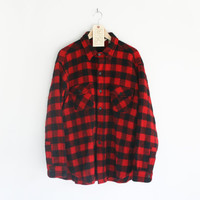 SALE - Vintage Woolrich Red & Black Buffalo Checkered Plaid Shirt