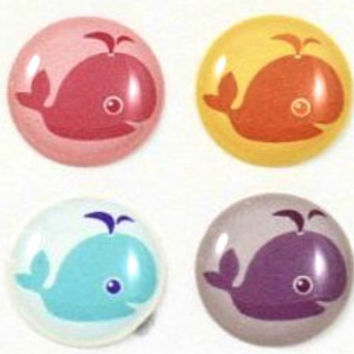 Whale - 8 Piece iPhone Home Button Stickers for Apple iPhone, iPad, iPad Mini, iTouch