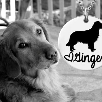 Golden Retriever Dog Personalized Necklace