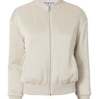 FRAME Satin Bomber Jacket - INTERMIX®