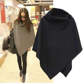 MY MALL METRO  Womens Coat Poncho Overcoat  Check Homepage for Promo Codes! <