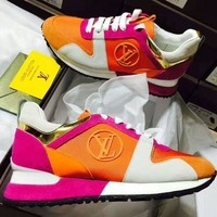 ''Louis Vuitton''LV woman Fashion casual shoes Rose red G