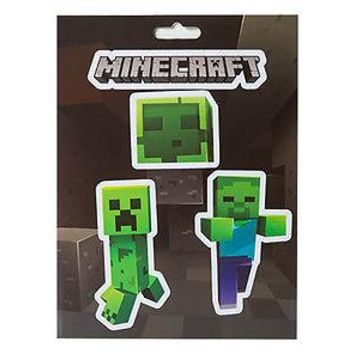 Minecraft Logo & Mobs Caves Monster Sticker Decal 4-piece set OFFICIAL LICENSED