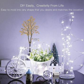 LED String lights Holiday lighting 1-10M Silver Wire night light For Garland Fairy Christmas Tree Wedding Party Decoration