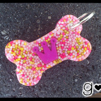 Pink Crown Bone Dog Tag -  from G Creations