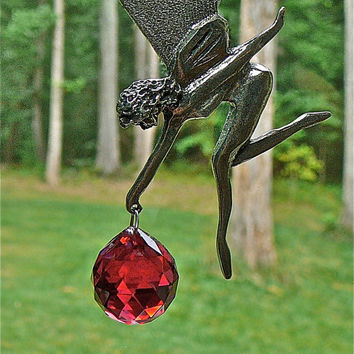 Mary the Fairy  12 Pewter and Crystal by HeartstringsByMorgan