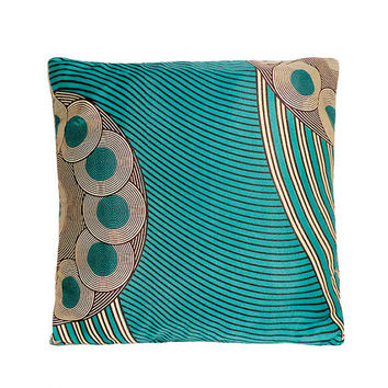 Stunning Circle and Stripe Abstract African Print Cushion Pillow Cover 16x16 or 18x18 inches