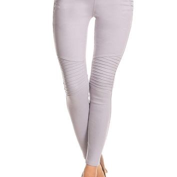 Stretchy High Waisted Moto Jeggings