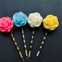 Flower Bobby Pin Colorful Hairpin Cute Pins