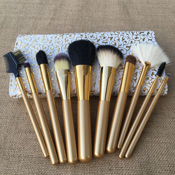10-pcs Luxury Wool Makeup Brush Sets [11043673292]