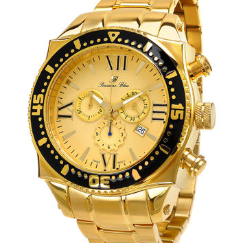 Porsamo Bleu Men's Men's Milan Gold Watch - Gold