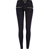 Dark wash seamed superskinny jeans - skinny jeans - jeans - women
