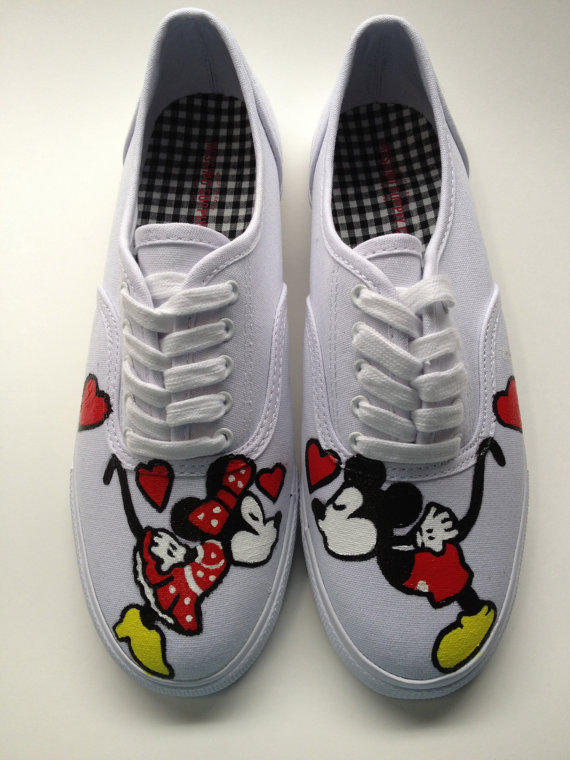 9da82e67938 Size 7 IN STOCK - Hand Painted Mickey from PaintMop on Etsy