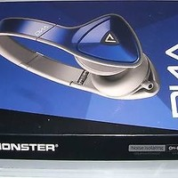 Monster DNA On Ear Headphones Cobalt Light Grey Gray Apple ControlTalk