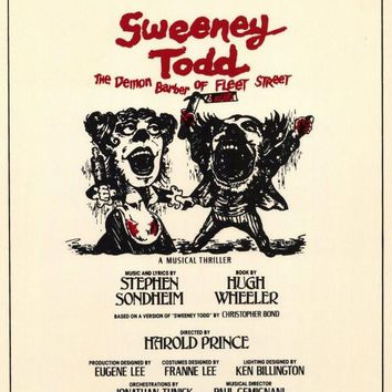 Sweeney Todd 11x17 Broadway Show Poster (1979)