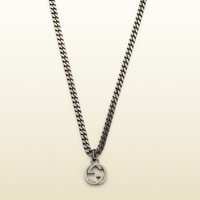 Gucci - online exclusive silver necklace with interlocking g pendant 356284J84008111