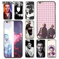 MaiYaCa Supernatural SPN Jensen Ackles on sell Phone Accessories Case for Apple iPhone 8 7 6 6S Plus X 5 5S SE XS XR XS MAX