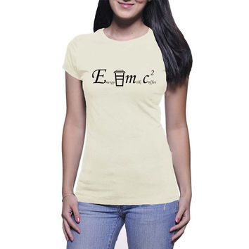 E=mc2 Coffee Graphic Tee (mj-os-NL3600-emc2-blk)