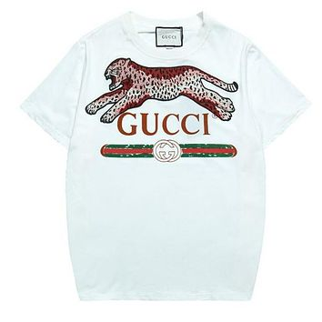 GUCCI Woman Men Leopard Fashion Tunic Shirt Top Blouse
