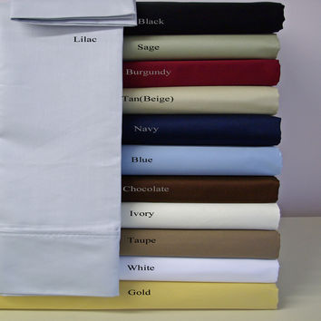 Twin XL Solid Microfiber Sheet sets
