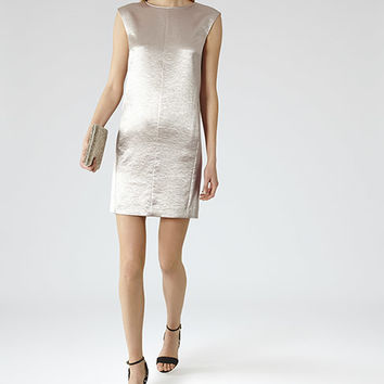 Fava Star Metallic Shift Dress - REISS
