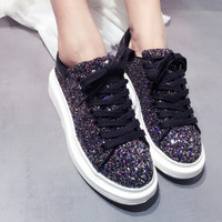 Platform Thick Crust With Heel Wedge Casual Shoes [4919908292]