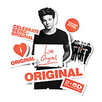 One Direction Limited Edition 1D OD Together Locker Decals Louis Original Orange by Office Depot