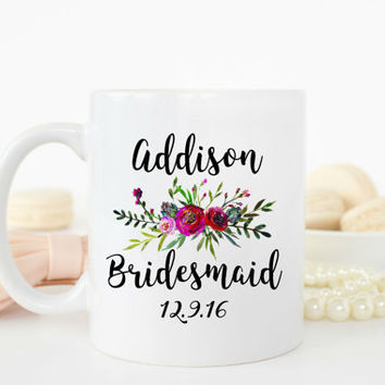 Bridesmaid Mug, Bridesmaid Cup, Bridesmaid Gift, Bridesmaid Proposal Mugs, Will You Be My Bridesmaid, Wedding Mug, Personalized Gift