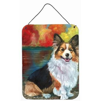 Corgi by the lake Wall or Door Hanging Prints 7294DS1216