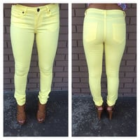Laguna Yellow Skinny Denim Pants