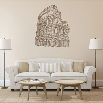ik1043 Wall Decal Sticker colosseum rome italy gladiator bedroom