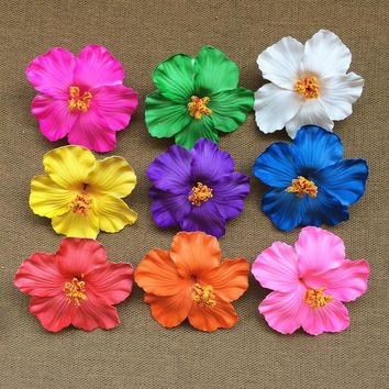 flower 12 pcs Hula Girls Original Soundtrack Foam Hawaiian flower Hibiscus Flower bridal hair clip 9cm you pick flower jewelry