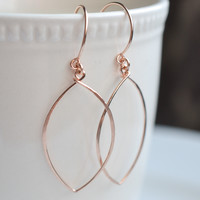 Petals Rose Gold Earrings