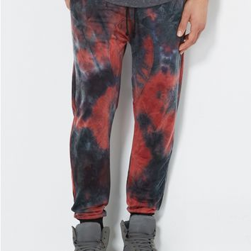 Red Tie-Dye Jogger