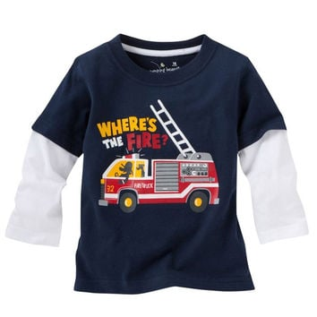 Fall Fashion Children T shirt Toddler Long Sleeve Tees Baby Boy Tops Clothing Shirts