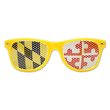 Yellow Maryland Flag LOGO Lenses / Shades