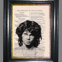 Rock n' Roll The Doors Jim Morrison Art - 2 Print Special- Vintage Dictionary Book Page Art-Upcycled Page Art,Wall Art,Mixed Media Art
