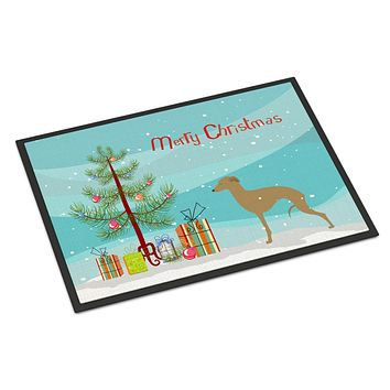 Italian Greyhound Merry Christmas Tree Indoor or Outdoor Mat 24x36 BB2932JMAT