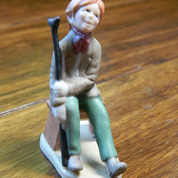 "Vintage 1991 Hallmark Ornament Charles Dickens ""Tiny Tim"" from the Christmas Carol Collection - Used"