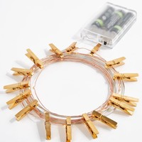 Copper Firefly Photo Clip String Lights | Lights | rue21