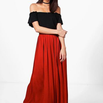 Sophia Floor Sweeping Jersey Maxi Skirt | Boohoo