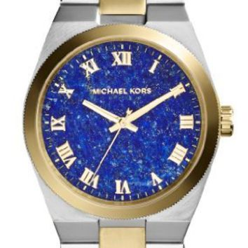 Michael Kors Channing Blue Lapis Dial Two-tone Ladies MK5893
