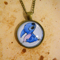 Disneys Lilo and Stitch - Stitch Vintage Style Cameo Necklace